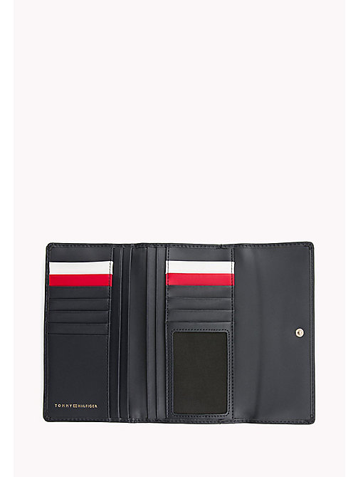 TOMMY HILFIGER Large Leather Flap Wallet - TOMMY NAVY - TOMMY HILFIGER Women - detail image 1