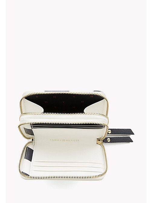 TOMMY HILFIGER Double Zip Stripe Wallet - TOMMY NAVY STRIPE - TOMMY HILFIGER Purses - detail image 1