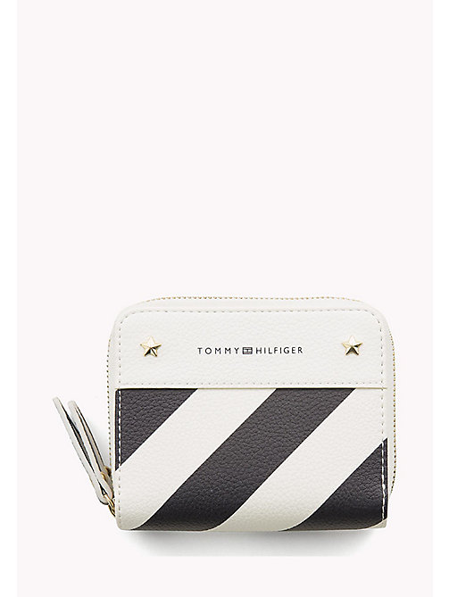 TOMMY HILFIGER Double Zip Stripe Wallet - TOMMY NAVY STRIPE - TOMMY HILFIGER Purses - main image