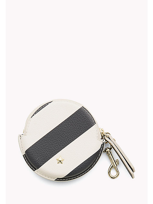 TOMMY HILFIGER Round Stripe Coin Purse - TOMMY NAVY STRIPE - TOMMY HILFIGER Wallets - main image