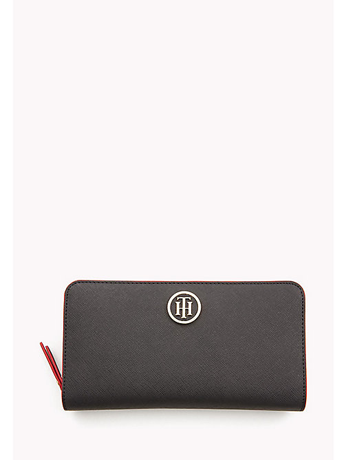 TOMMY HILFIGER Logo Zip Around Wallet - TOMMY NAVY/ TOMMY RED - TOMMY HILFIGER Purses - main image