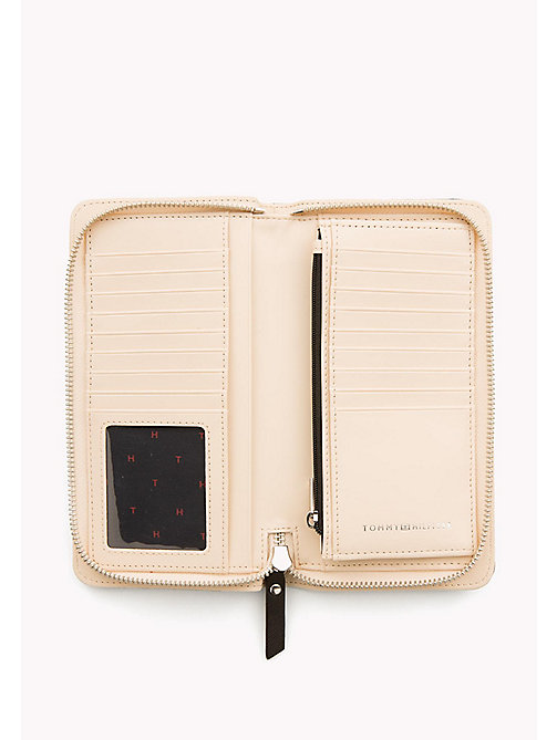 TOMMY HILFIGER Logo Zip Around Wallet - BLACK/ TAPIOCA - TOMMY HILFIGER Wallets - detail image 1