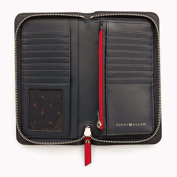 TOMMY HILFIGER Logo Zip Around Wallet - BLACK/ TAPIOCA - TOMMY HILFIGER Women - detail image 2