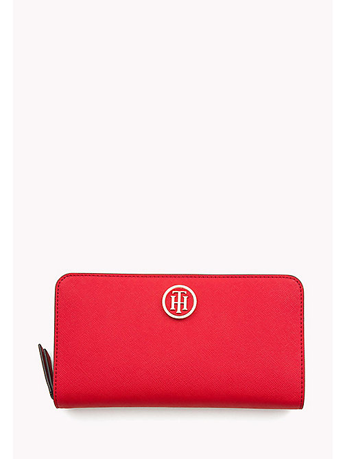 TOMMY HILFIGER Logo Zip Around Wallet - TOMMY RED/ TOMMY NAVY - TOMMY HILFIGER Wallets - main image