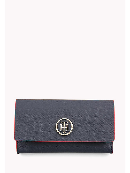 TOMMY HILFIGER Medium Logo Flap Wallet - TOMMY NAVY/ TOMMY RED - TOMMY HILFIGER Purses - main image