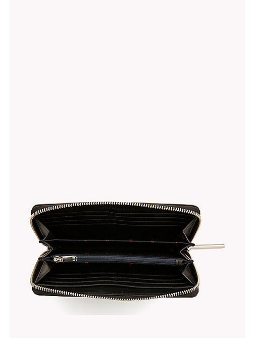 TOMMY HILFIGER Zip-Around Monogram Purse - BLACK - TOMMY HILFIGER Bags & Accessories - detail image 1