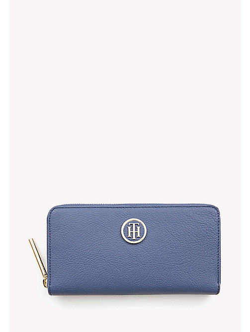 TOMMY HILFIGER Zip-Around Monogram Purse - DUTCH BLUE - TOMMY HILFIGER Wallets - main image