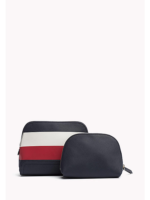TOMMY HILFIGER Beauty-case 2 in 1 con motivo a righe - CORPORATE MIX - TOMMY HILFIGER Beauty-Case - dettaglio immagine 1