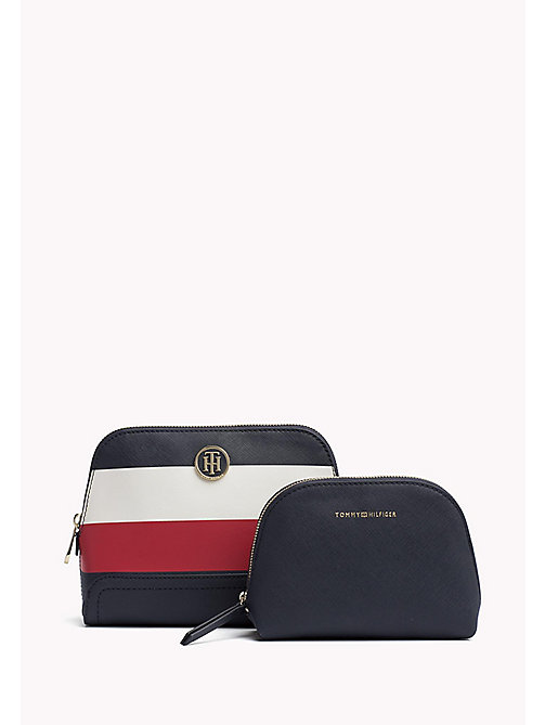 TOMMY HILFIGER Stripe 2 in 1 Washbag - CORPORATE MIX - TOMMY HILFIGER VACATION FOR HER - main image