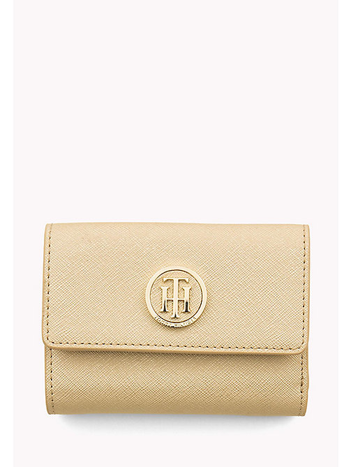 TOMMY HILFIGER Medium Flap Wallet - GOLD - TOMMY HILFIGER Purses - main image