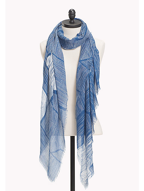 TOMMY HILFIGER Star Scarf - BLUE MIX - TOMMY HILFIGER Scarves - main image