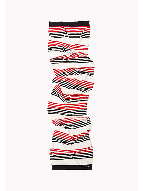 TOMMY HILFIGER Stripe Print Scarf - TOMMY RED-TOMMY NAVY - TOMMY HILFIGER Bags & Accessories - detail image 1