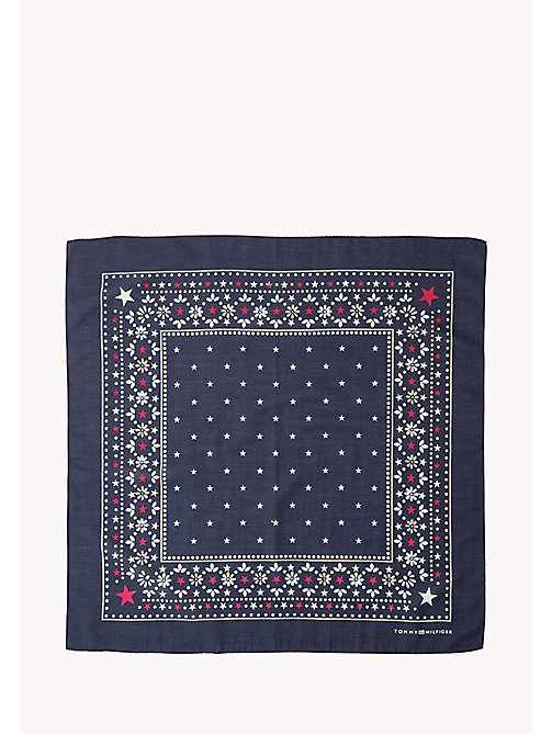 TOMMY HILFIGER Cotton Silk Bandana - PEACOAT - TOMMY HILFIGER Scarves - detail image 1