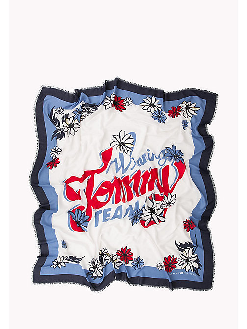 TOMMY HILFIGER Floral Square Scarf - TOMMY NAVY - TOMMY HILFIGER VACATION FOR HER - detail image 1