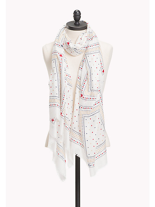 TOMMY HILFIGER Bandana Print Scarf - WHISPER WHITE - TOMMY HILFIGER Bags & Accessories - main image