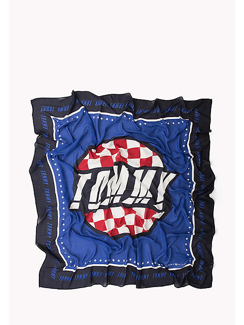 TOMMY HILFIGER Racer Square Scarf - SURF THE WEB MIX - TOMMY HILFIGER Bags & Accessories - detail image 1