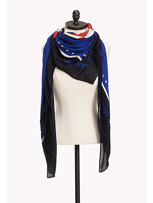 TOMMY HILFIGER Racer Square Scarf - SURF THE WEB MIX - TOMMY HILFIGER NEW IN - main image