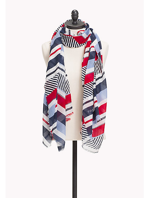 TOMMY HILFIGER Contrast Stripe Scarf - MULTI COLOR - TOMMY HILFIGER NEW IN - main image