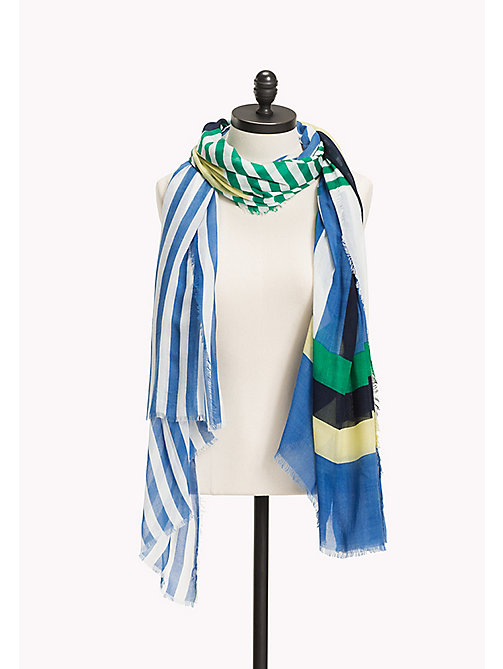 TOMMY HILFIGER Wide Stripe Print Scarf - JELLY BEAN MIX - TOMMY HILFIGER Scarves - main image