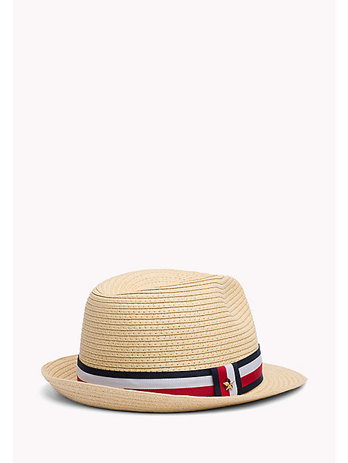 TOMMY HILFIGER Stripe Band Straw Hat - NATURAL - TOMMY HILFIGER VACATION FOR HER - detail image 1