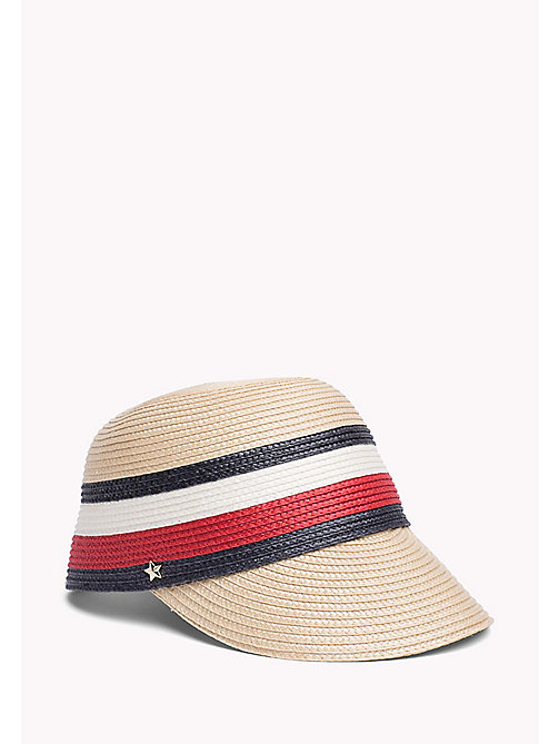 TOMMY HILFIGER Stripe Straw Cap - CORPORATE - TOMMY HILFIGER VACATION FOR HER - main image