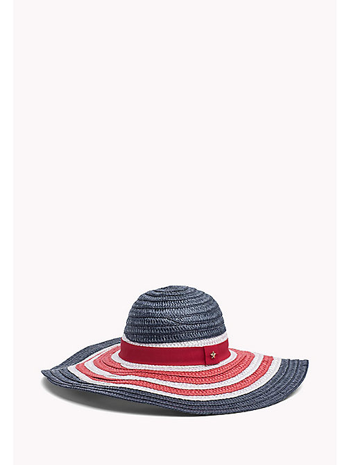 TOMMY HILFIGER Straw Wide Brim Hat - CORPORATE -  Boutique Vacances - image principale