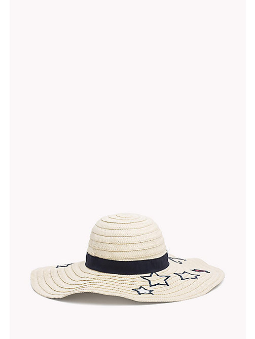TOMMY HILFIGER Star Embroidery Straw Hat - NATURAL -  Bags & Accessories - detail image 1