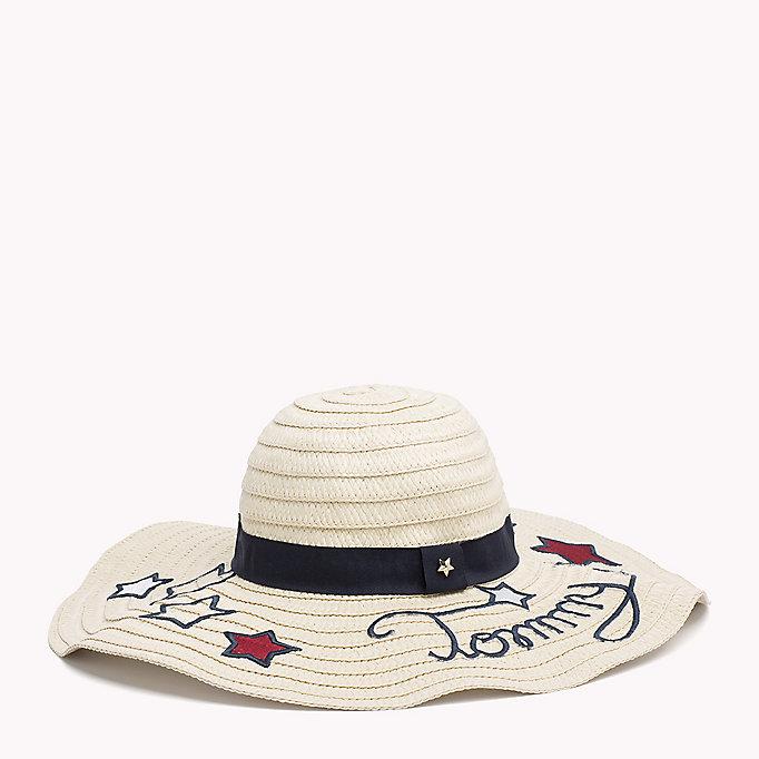 Tommy Mujer Está Protagonizada Por El Sombrero De Paja Sol, De Color Beige (203 Naturales), Un Tamaño (tamaño Fabricante: Os) Tommy Hilfiger