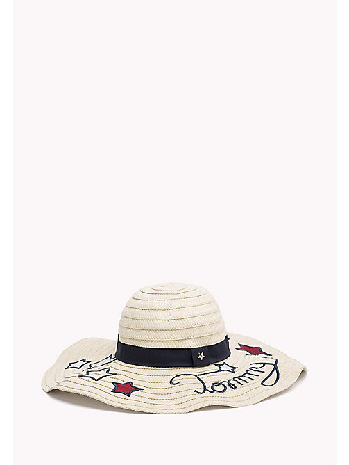 TOMMY HILFIGER Star Embroidery Straw Hat - NATURAL - TOMMY HILFIGER VACATION FOR HER - main image