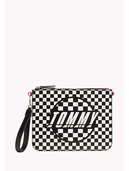 TOMMY HILFIGER Print Clutch - CHECKER BOARD - TOMMY HILFIGER Clutch Bags - main image
