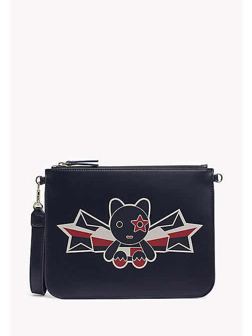 TOMMY HILFIGER Clutch met print - MASCOT/ TOMMY NAVY - TOMMY HILFIGER Clutches - main image