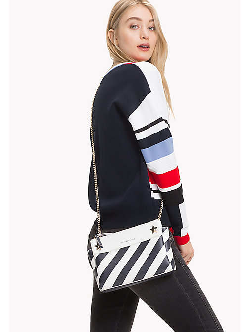 TOMMY HILFIGER Diagonal Stripe Chain Bag - STRIPE - TOMMY HILFIGER Bags & Accessories - detail image 1