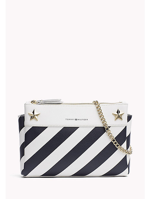 TOMMY HILFIGER Diagonal Stripe Chain Bag - STRIPE - TOMMY HILFIGER Crossbody Bags - main image
