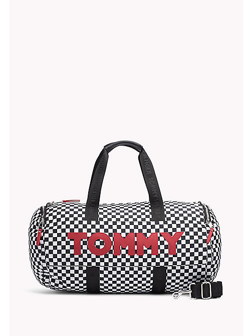 TOMMY HILFIGER Chequered Duffle Bag - CHECKER BOARD - TOMMY HILFIGER NEW IN - main image