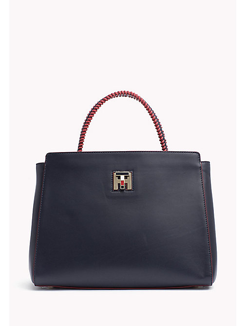 TOMMY HILFIGER Contrast Handle Tote Bag - TOMMY NAVY - TOMMY HILFIGER Bags & Accessories - main image