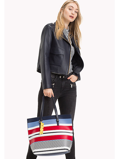TOMMY HILFIGER Stripe Tote Bag - MULTI STRIPE - TOMMY HILFIGER Bags & Accessories - detail image 1