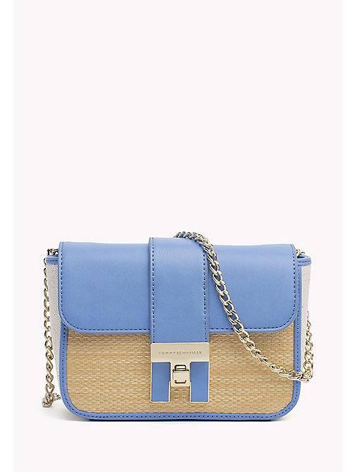 TOMMY HILFIGER Borsa fold-over mini in rafia - RAFFIA - TOMMY HILFIGER Occasion wear - immagine principale