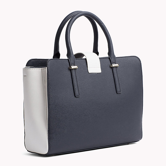 TOMMY HILFIGER Elegant Two-Tone Satchel - BLACK - TOMMY HILFIGER Bags & Accessories - detail image 1