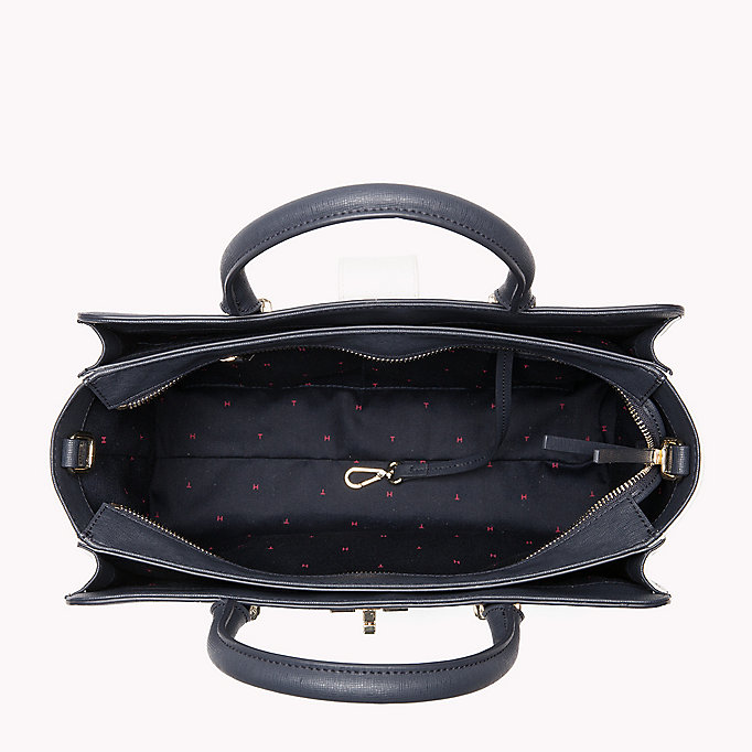 TOMMY HILFIGER Elegant Two-Tone Satchel - BLACK - TOMMY HILFIGER Bags & Accessories - detail image 2