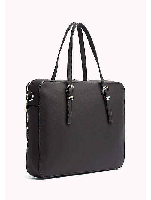 TOMMY HILFIGER Sophisticated Laptop Bag - BLACK - TOMMY HILFIGER The Office Edit - detail image 1