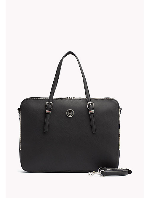 TOMMY HILFIGER Sophisticated Laptop Bag - BLACK - TOMMY HILFIGER The Office Edit - main image