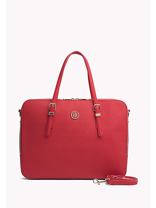 TOMMY HILFIGER Sophisticated Laptop Bag - TOMMY RED - TOMMY HILFIGER The Office Edit - main image