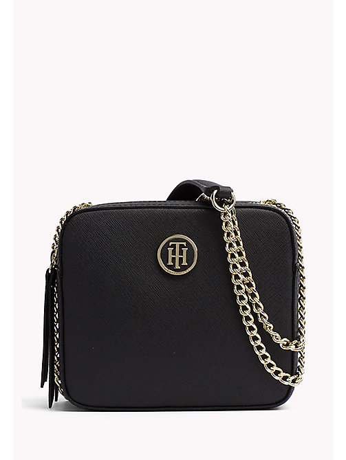 TOMMY HILFIGER Saffiano Compartment Camera Bag - BLACK - TOMMY HILFIGER Crossbody Bags - main image
