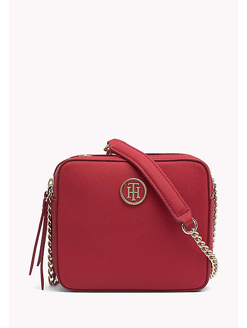 TOMMY HILFIGER Saffiano Compartment Camera Bag - TOMMY RED -  Crossbody Bags - main image