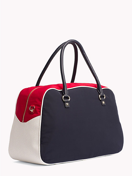 TOMMY HILFIGER Gigi Hadid Gym Duffel - TOMMY NAVY MIX - TOMMY HILFIGER Duffle Bags - detail image 1