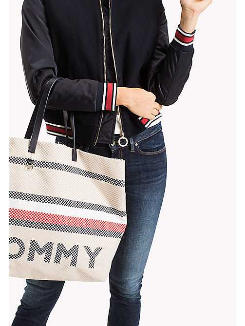 TOMMY HILFIGER Signature Stripe Textile Tote - CORPORATE MIX - TOMMY HILFIGER VACATION FOR HER - detail image 1