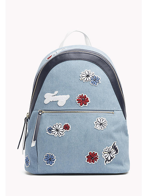 TOMMY HILFIGER Floral Canvas Backpack - FLOWER EMBROIDERY - TOMMY HILFIGER Backpacks - main image