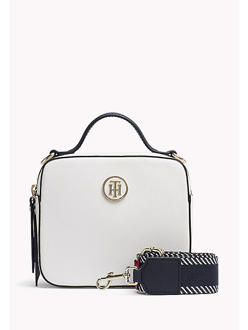 TOMMY HILFIGER Tommy Monogram Camera Bag - BRIGHT WHITE - TOMMY HILFIGER Crossbody Bags - main image