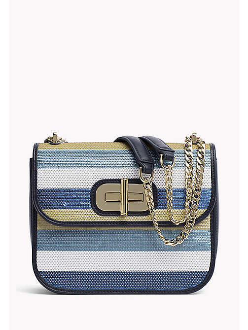 TOMMY HILFIGER Sequin Turn Lock Bag - SEASONAL STRIPE - TOMMY HILFIGER Crossbody Bags - main image