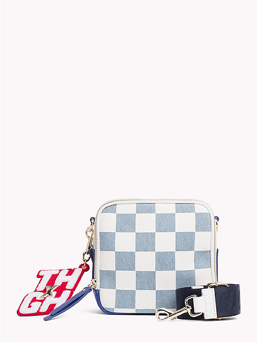TOMMY HILFIGER Gigi Hadid Denim Crossover Bag - DNM CHECKERBOARD - TOMMY HILFIGER Bags & Accessories - main image
